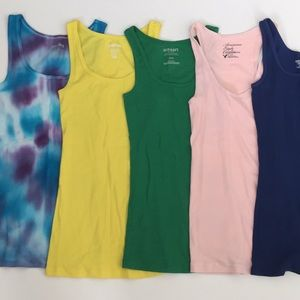 Lot of 5 S tank tops